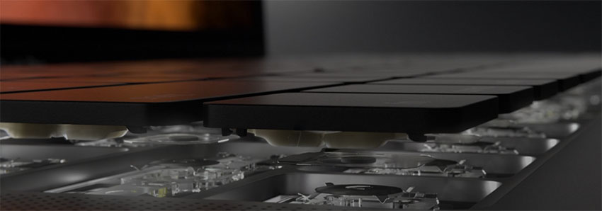 tastiera a farfallina Apple