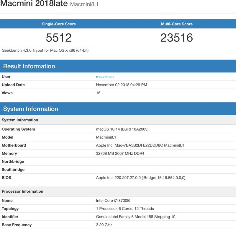 Mac mini late 2018 benchmark geniusmac